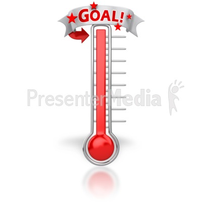 Thermometer Reached Our Goal Presentation clipart