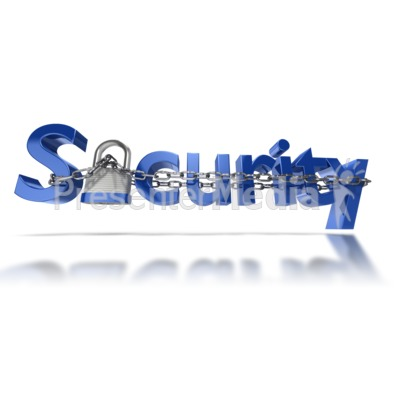 Security Text Chain Locked Presentation clipart