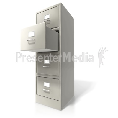 Office Cabinet Door Open Presentation clipart