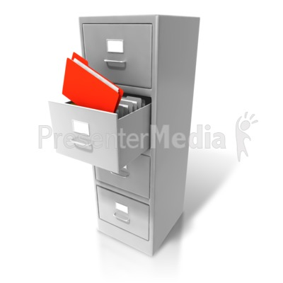 Office Cabinet Pull Out Files Presentation clipart