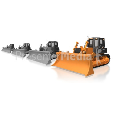 Construction Bulldozer Standout Presentation clipart