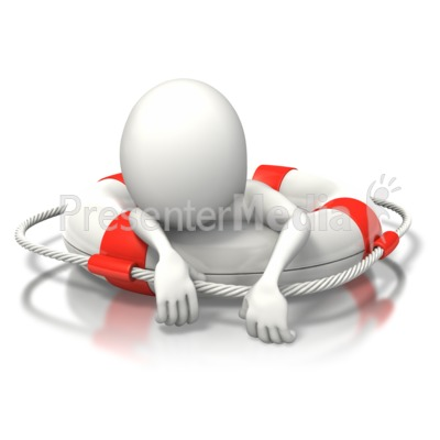 Stick Figure Buoy Exhausted Presentation clipart