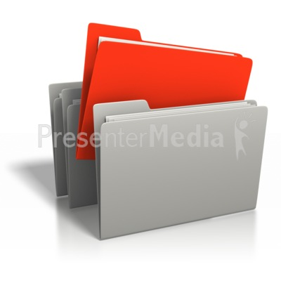 File Stand Out Presentation clipart