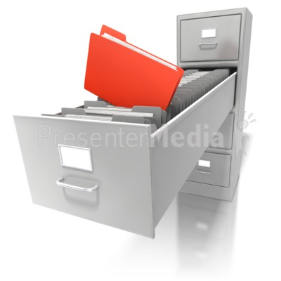 Deep File Cabinet Presentation clipart