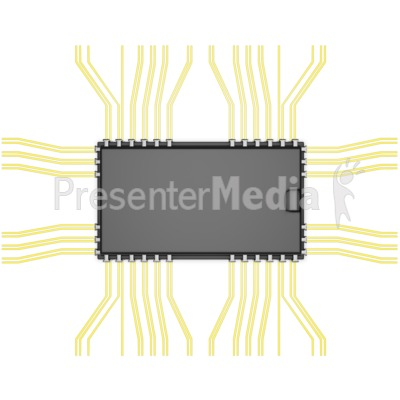 Electronic Component Top View Presentation clipart
