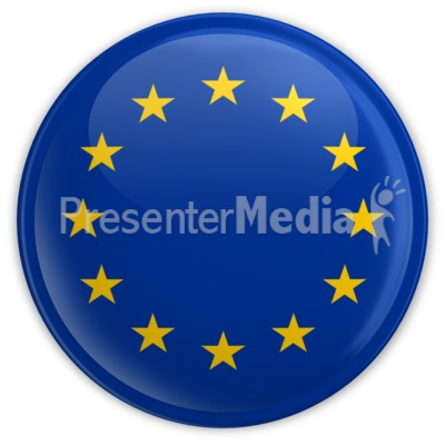 Badge Button European Union Flag Presentation clipart