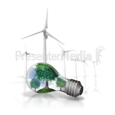 Nature Energy Wind Turbine Presentation clipart