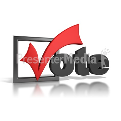 Vote Checkmark Presentation clipart