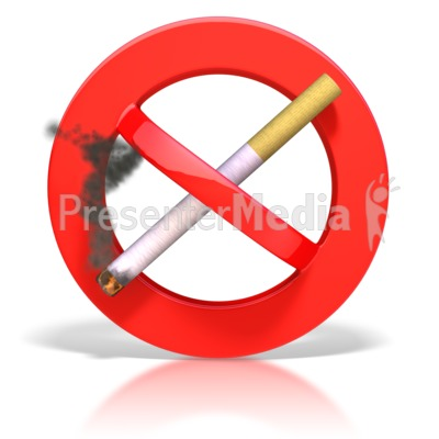 Smoking Prohibited Symbol Presentation clipart