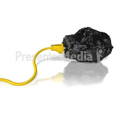 Coal Energy Power Extract Presentation clipart