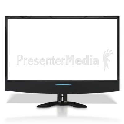 Flat Screen TV With See Through Screen Presentation clipart