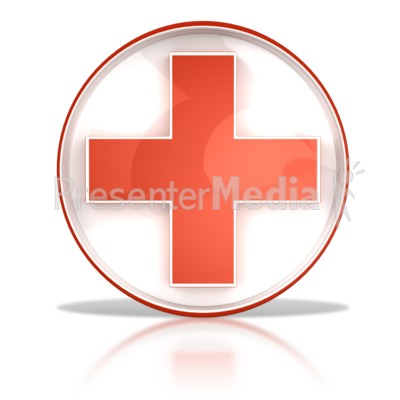 Hospital Health Cross Button Presentation clipart