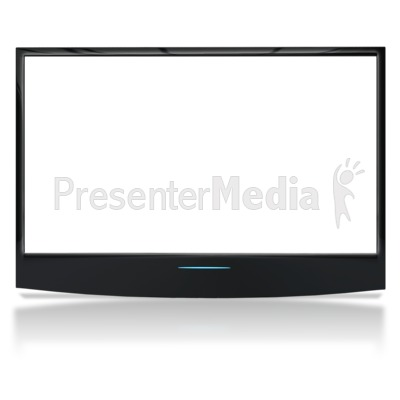 See Though Flat Screen No Stand Presentation clipart