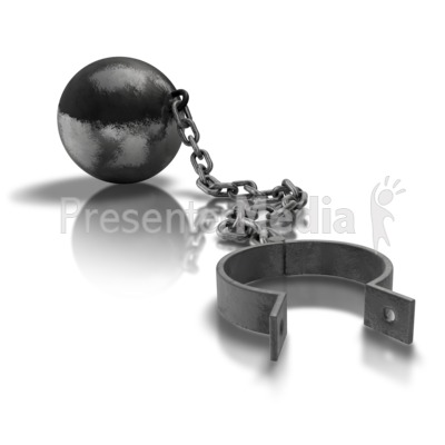 Ball And Chain Open Presentation clipart