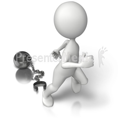 Ball N Chain Freedom Presentation clipart