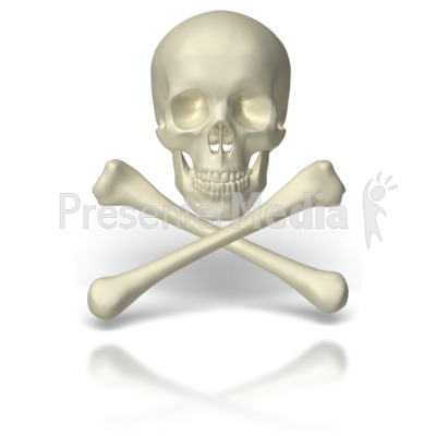 Skull And Crossbones Presentation clipart