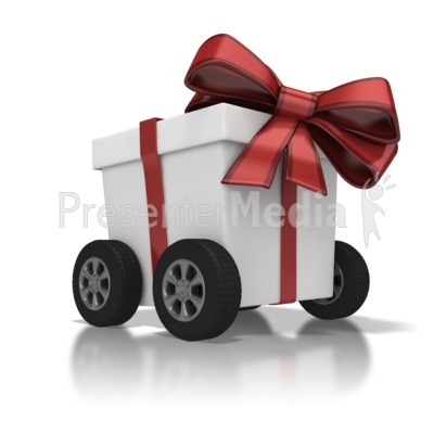 Gift Delivery Presentation clipart