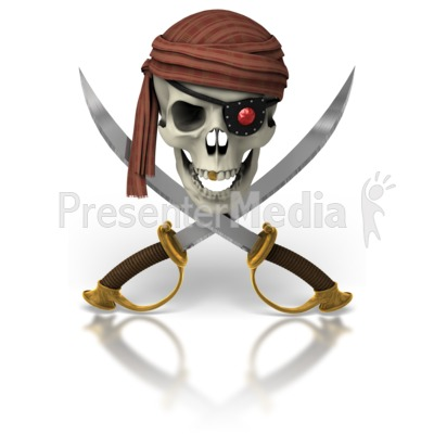 Pirate Skull And Swords Presentation clipart