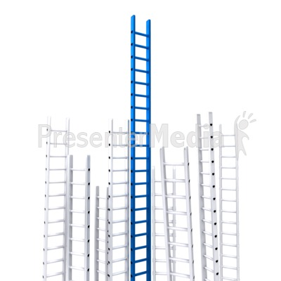 Corporate Ladder Leader Presentation clipart