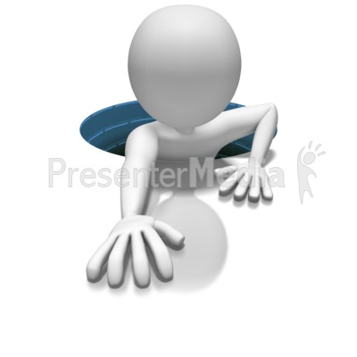 Stick Figure In Hole Presentation clipart
