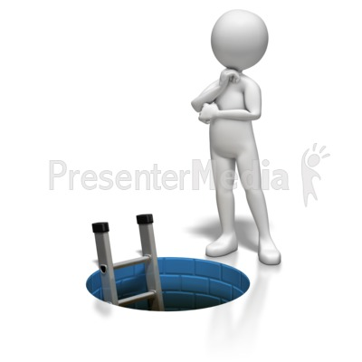 Stick Figure Ladder Hole Presentation clipart