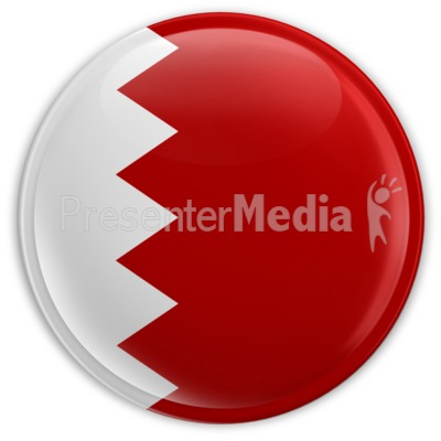 Badge Button Bahrain Flag Presentation clipart