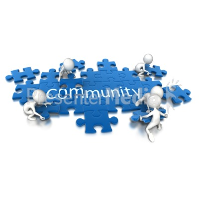 Puzzle Pieces Community Teamwork Presentation clipart