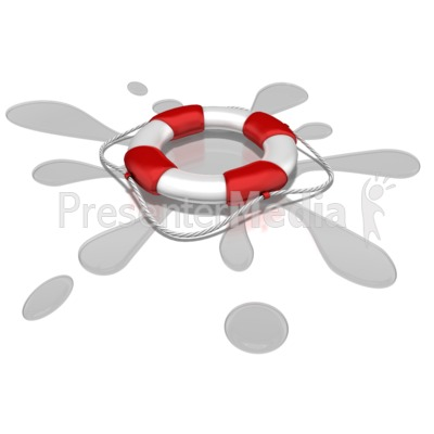 Life Preserver Splash Presentation clipart