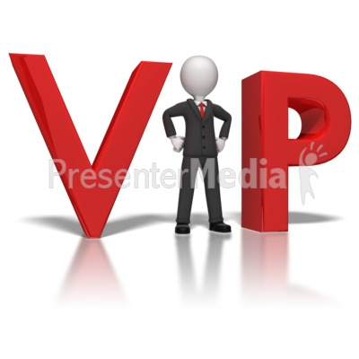 Businessman VIP Presentation clipart