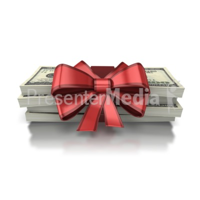 Gift Of Money Presentation clipart