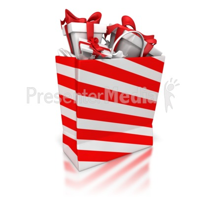 Shopping Bag With Presents Presentation clipart