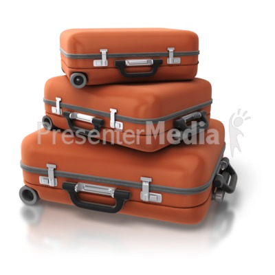 Set Of Luggage Stack Presentation clipart