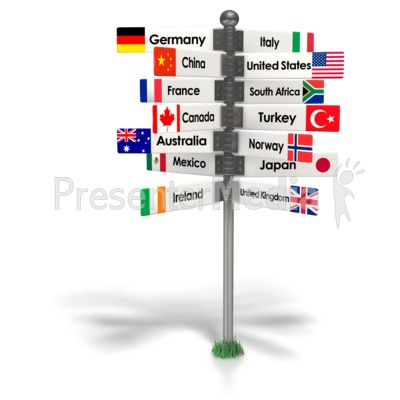 Travel The World Sign Presentation clipart