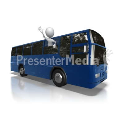 Stick Figure Bus Trip Presentation clipart