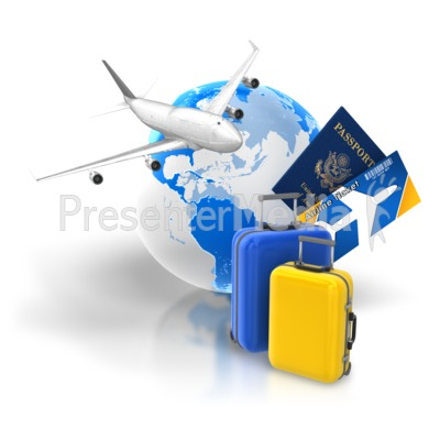 Travel Package Tickets Passport Presentation clipart