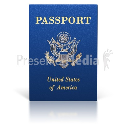 United States Passport Booklet Presentation clipart