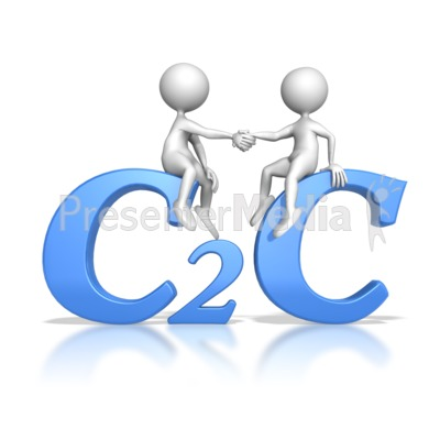 Customer to Customer Hand Shake Presentation clipart