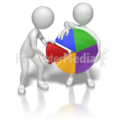 Teamwork Pie Chart Presentation clipart