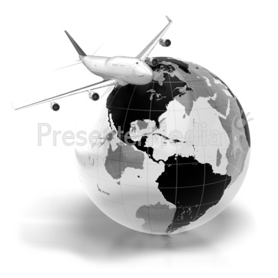 Flight Across The World Presentation clipart