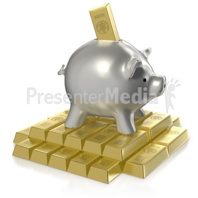 Investing in Gold Presentation clipart