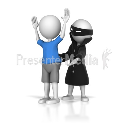Stick Figure Hold Up Presentation clipart