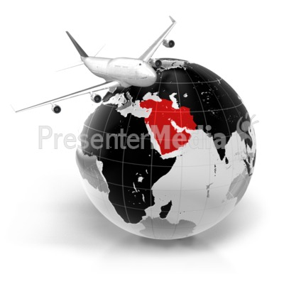 Flight To Middle East Presentation clipart