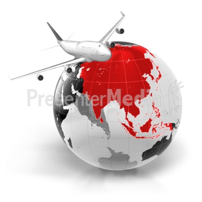 Flight To Asia Presentation clipart
