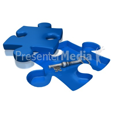 Key Under Puzzle Piece Presentation clipart