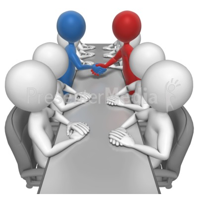 Stick Figures Agreement Meeting Presentation clipart