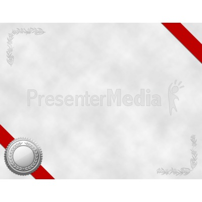 Certificate Blank Presentation clipart