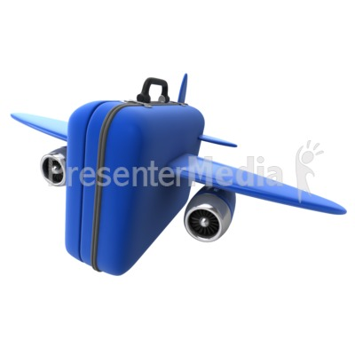 Luggage Travel Flight Presentation clipart