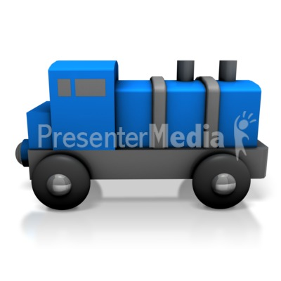 Toy Train Engine Presentation clipart