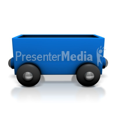 Toy Train Coal Car Presentation clipart