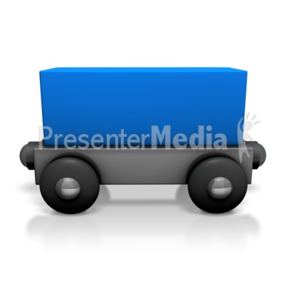 Toy Train Cargo Car Presentation clipart